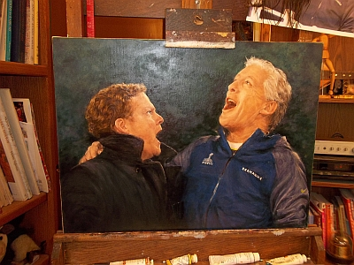 Oil Painting Pete Carroll and John Schneider