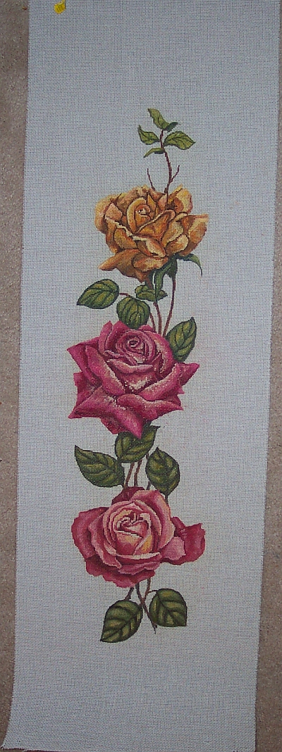 Rose Needlepoint Bell Pull