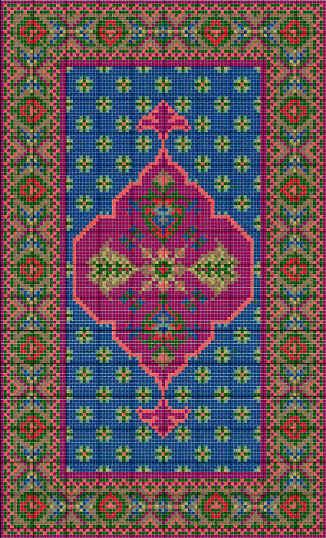 Sarouk wool rug kit