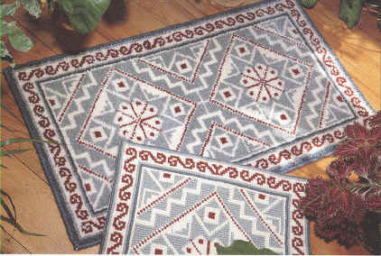 Mosaique wool hooked rug kit