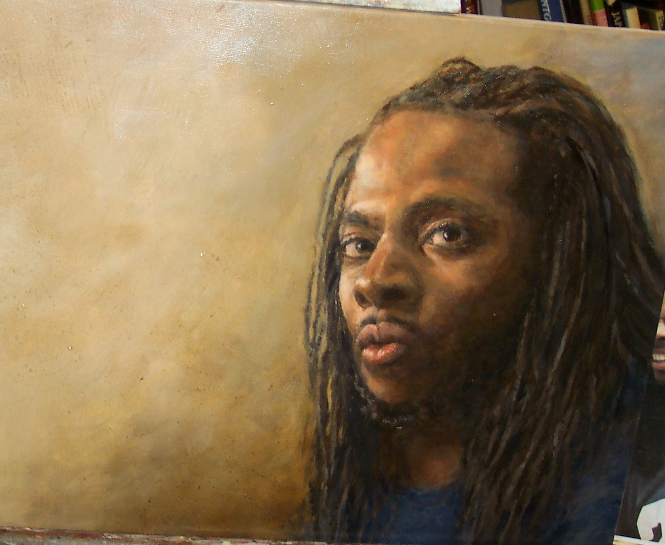 Richard Sherman oil painting